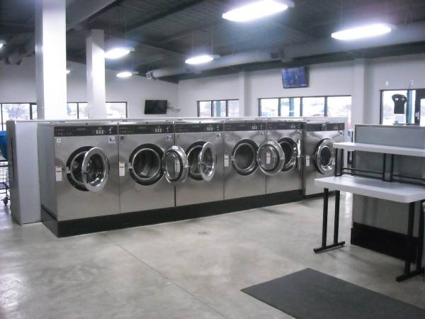 Coin-operated laundromat installed by Martin-Ray Laundry Systems